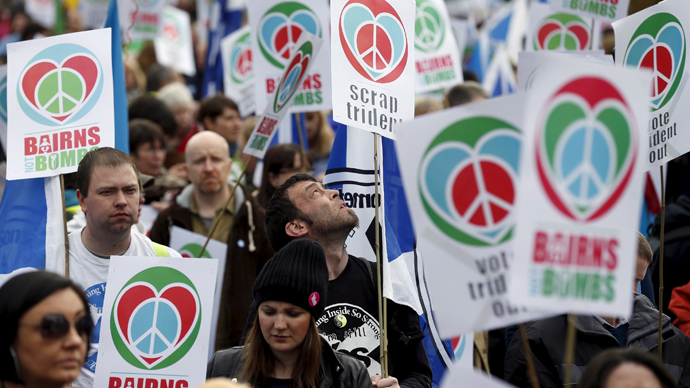 Bairns Not Bombs: Hundreds say no to Trident in Glasgow rally (PHOTOS)