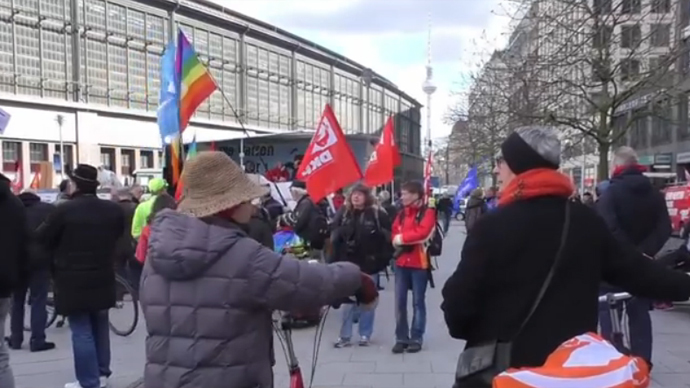 German rallies protest world militarism & NATO warmongering (VIDEO)