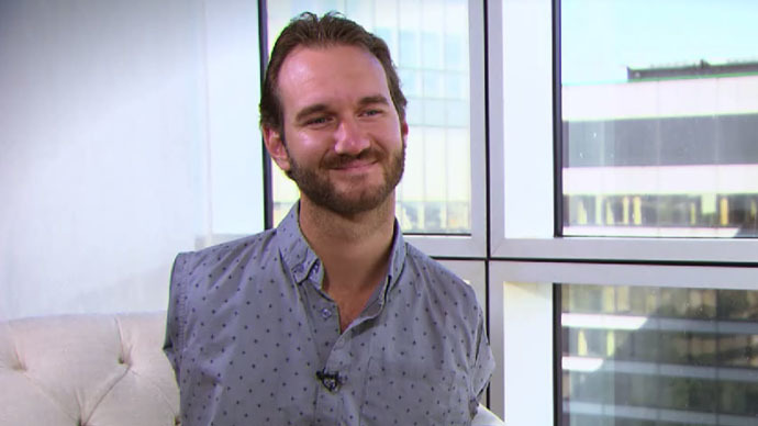 'Overcome disability of fear': Nick Vujicic born limbless and inspirer of billions to RT