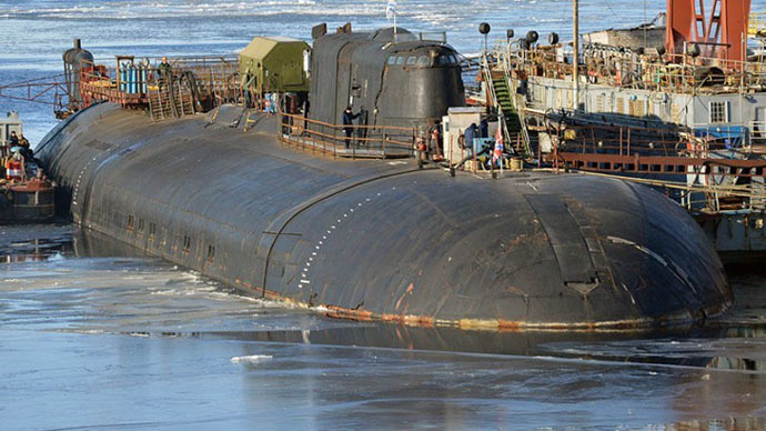 Nuclear submarine catches fire at Russian shipyard