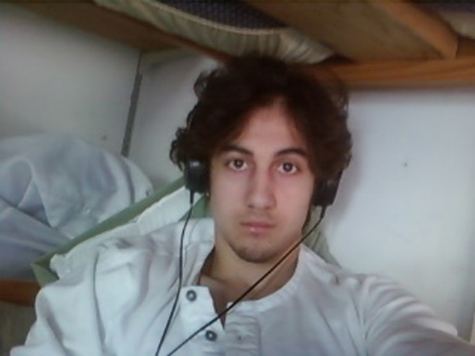 Dzhokhar Tsarnaev is pictured in this handout photo presented as evidence by the U.S. Attorney's Office in Boston, Massachusetts on March 23, 2015. (Reuters)