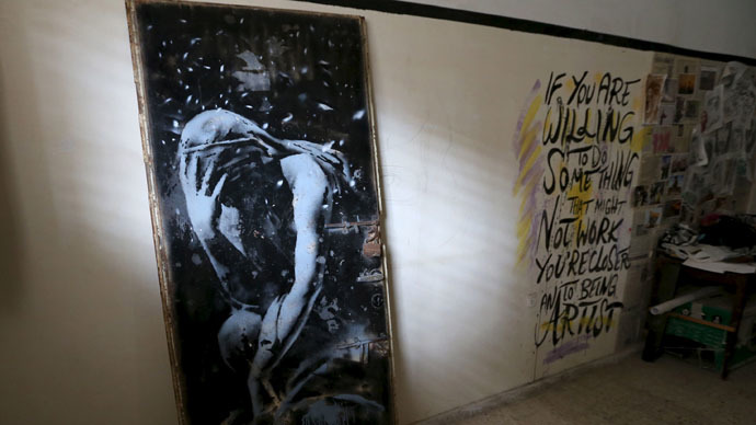 Police in Gaza seize '$175' Banksy painting amid ownership dispute