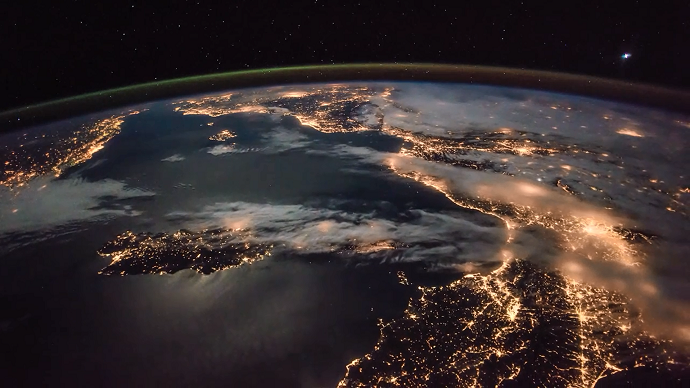 World lit up: Stunning European night sky as seen from ISS (VIDEO)