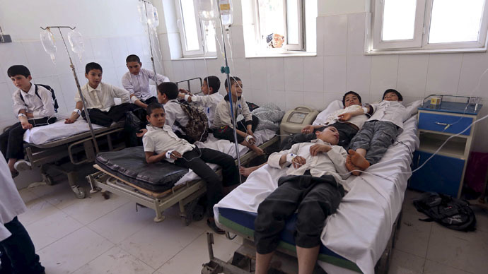 100 Afghan children hospitalized after 'magic beans' meal