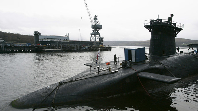 Protesters block gates of Faslane base in UK in call to scrap Trident nuclear sub program