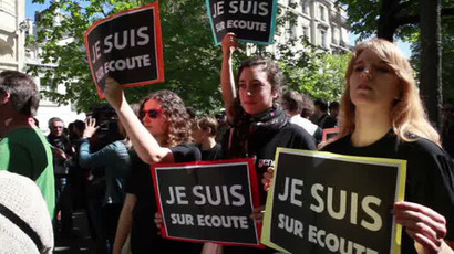 French privacy advocates protest new spying laws (VIDEO)