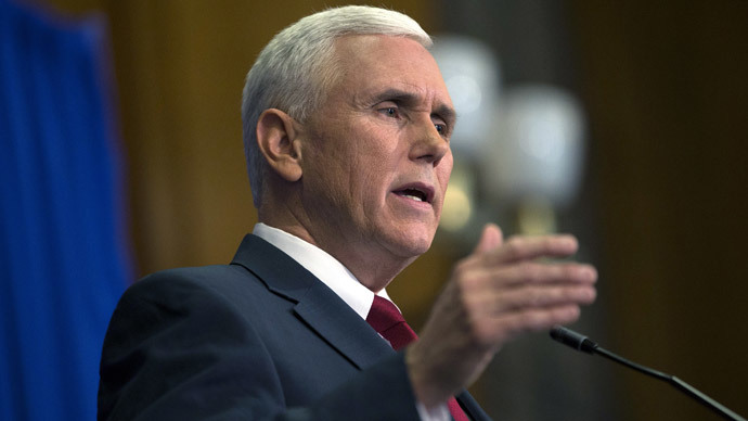 Indiana Gov. Mike Pence.(AFP Photo / Aaron P. Bernstein)