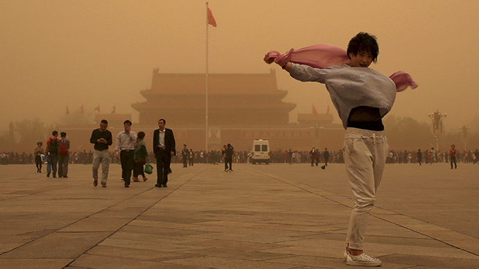 'Sand-ageddon': Chinese capital hit by worst sand storm in decade