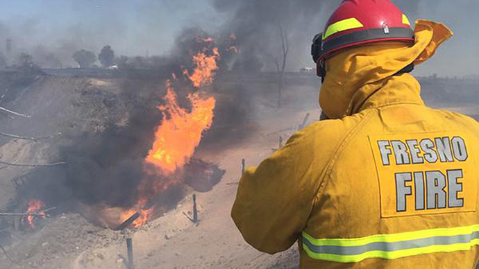 Gas explosion fireball injures 15 workers & inmates at California gun range (VIDEO)