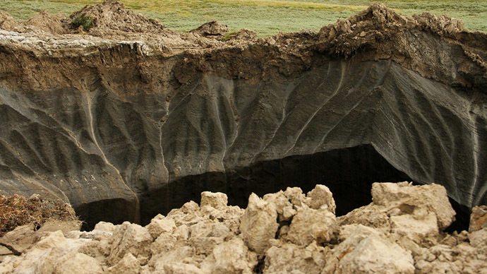 Sinkhole scare: Mysterious giant crater emerges in Siberian village