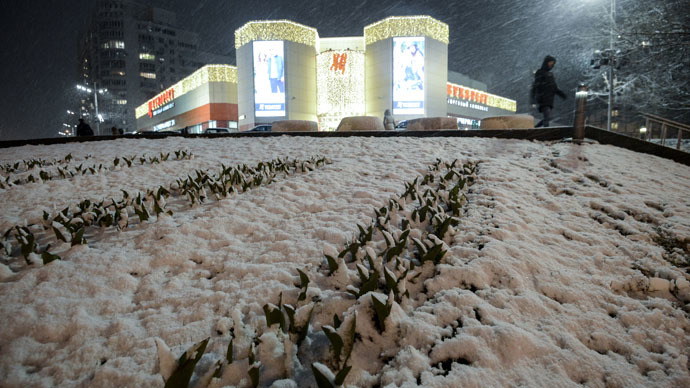 Freak April blizzard takes Moscow by surprise (PHOTOS)