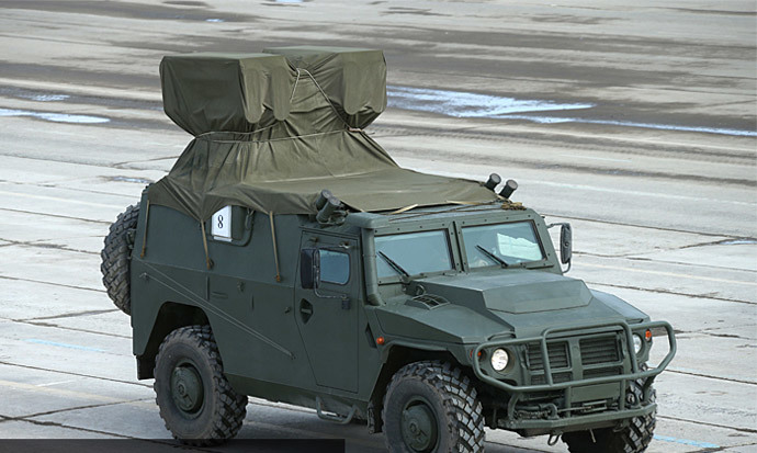 Kornet-D antitank missile system mounted on Tiger armored vehicle (image from http://mil.ru)