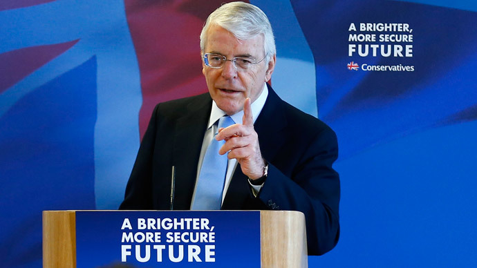 ​Miliband risks 'daily dose of political blackmail' in Labour-SNP coalition – Ex-PM John Major