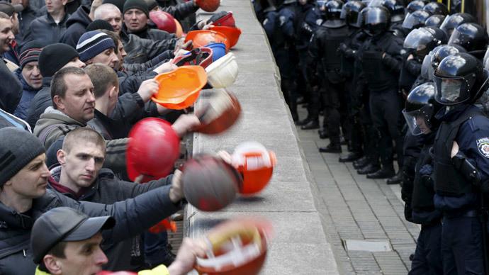 'Where's our money?' Thousands of coal miners blockade Ukrainian govt