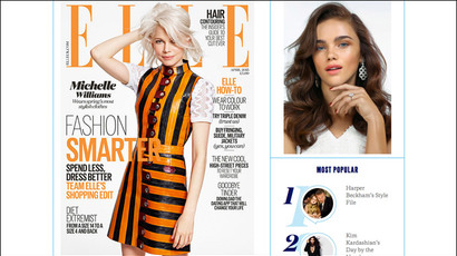 Battle dress: Kiev lashes out at Elle mag over 'Putin's hand' in cover photo