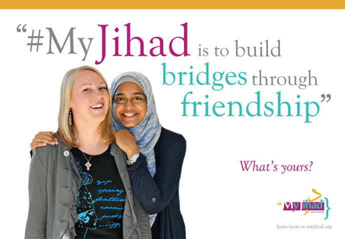 The original campaign spoofed by AFDI (Photo: myjihad.org)