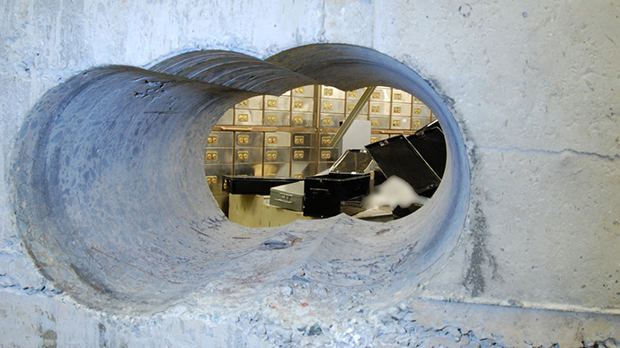 Met Police reveal huge hole drilled by Hatton Garden vault burglars