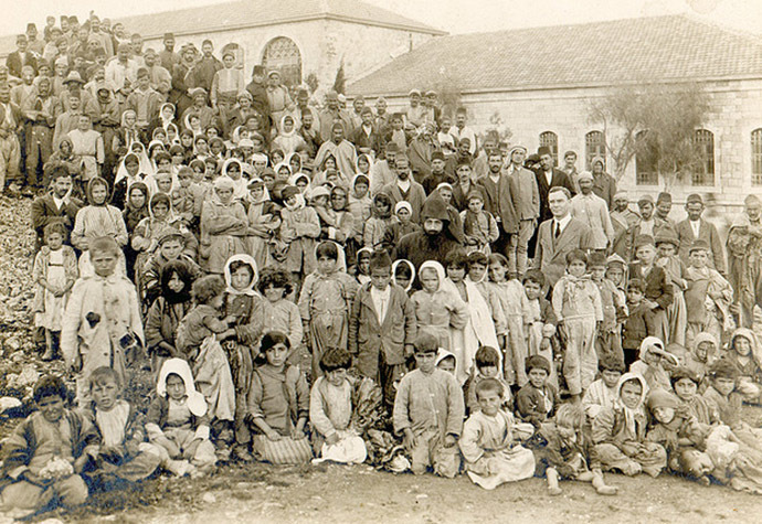 Armenian genocide survivors discovered in Salt and sent to Jerusalem in April 1918. (Image from Wikipedia)