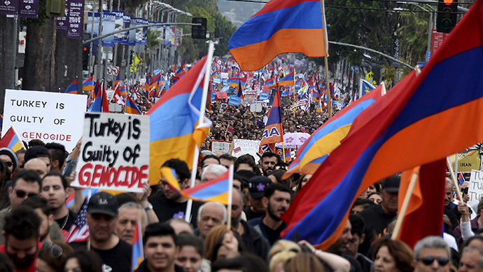 Armenian genocide: 130K march in LA to mark 100th anniversary (PHOTO, VIDEO)