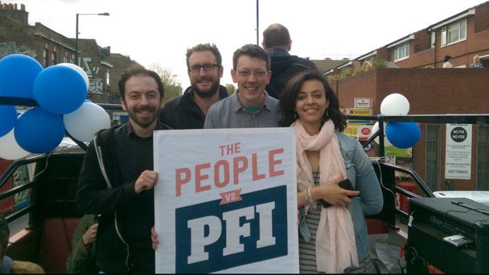 London protest warns against crippling PFI debts 'bleeding NHS hospitals dry'