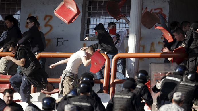 Footbrawl: 41 arrested in massive Serbia soccer fan clash (PHOTOS, VIDEO)