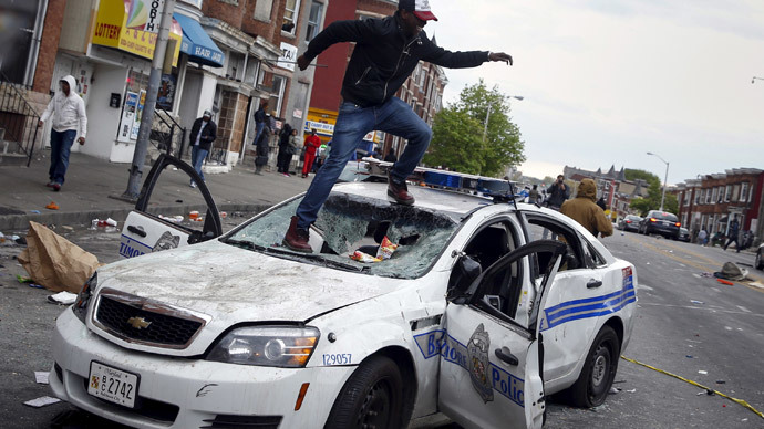 Acts of violence and destruction won't be tolerated in Baltimore - Maryland gov.