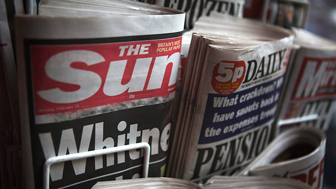 ​Mixed messages? Murdoch's Sun backs Tories, while Scottish edition backs SNP