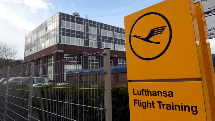 The entrance of a Lufthansa Flight Training school is pictured in Bremen, April 1, 2015. (Reuters/Fabian Bimmer)
