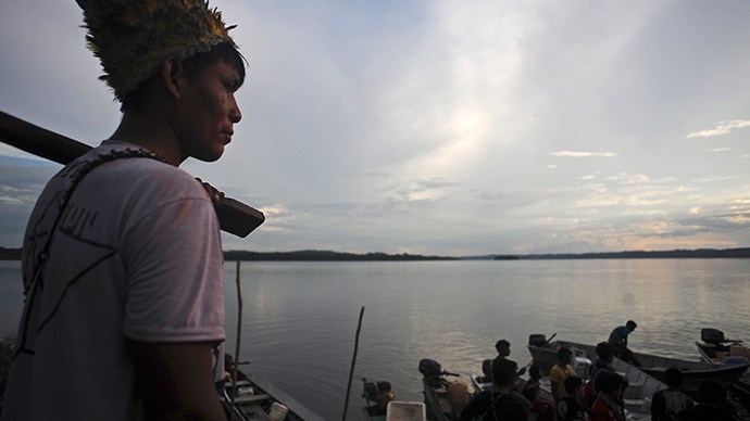Munduruku Indians near Jacareacanga on the Tajajos River, a major tributary of the Amazon (Reuters / Lunae Parracho)