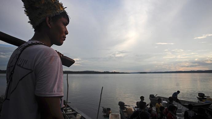 Munduruku Indians near Jacareacanga on the Tajajos River, a major tributary of the Amazon (Reuters / Lunae Parracho)