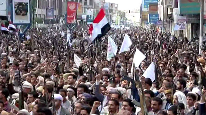 Thousands protest in Yemen against Saudi-led intervention (VIDEO)