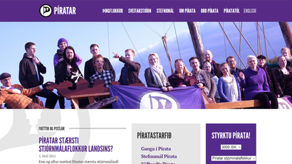 Iceland Pirate Party popularity doubles over 2 months, rivals to ruling parties combined