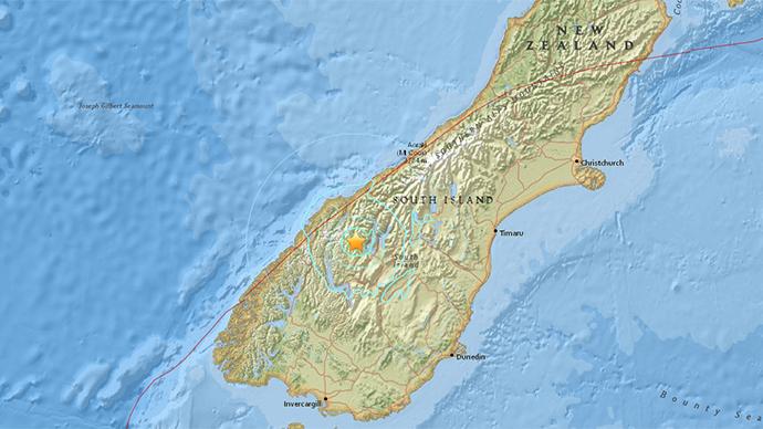5.6 magnitude quake strikes New Zealand