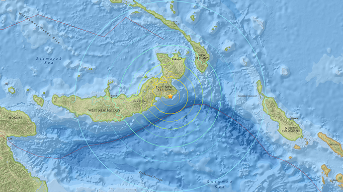 7.4 quake, aftershocks hit Papua New Guinea prompting tsunami scare