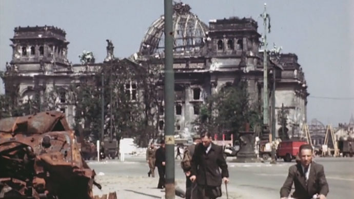 Unique historic color video shows Berlin in July 1945