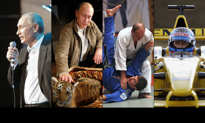 A combination of photos shows Russian President Vladimir Putin (RIA Novosti/Aleksey Nikolskiy/Press Service of the Russian President/Reuters)