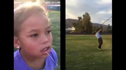 Javelin dentistry: Former Olympic champ removes daughter's tooth with spear