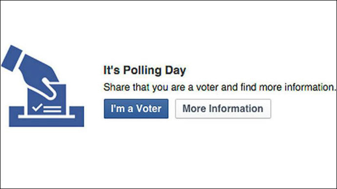 1mn Facebook users click 'I'm a Voter' button in UK election