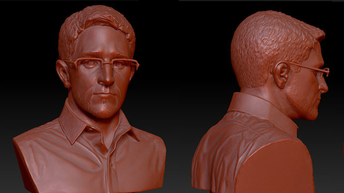 Your own 3D-printable Snowden bust! Artists upload instructions online