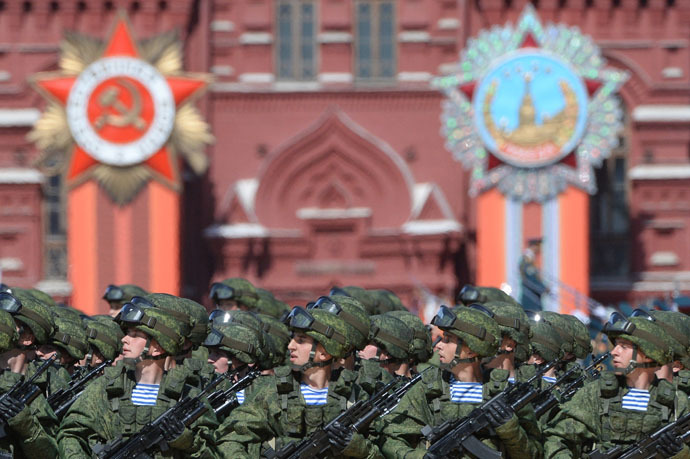 Ceremonial unit soldiers at the military parade to mark the 70th anniversary of Victory in the 1941-1945 Great Patriotic War. (RIA Novosti/Vladimir Fedorenko)