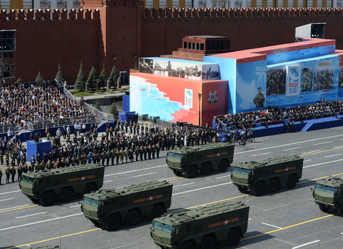An Iskander / SS-26 Stone shorter-range missile system at the military parade to mark the 70th anniversary of Victory in the 1941-1945 Great Patriotic War. (RIA Novosti/Alexander Vilf)