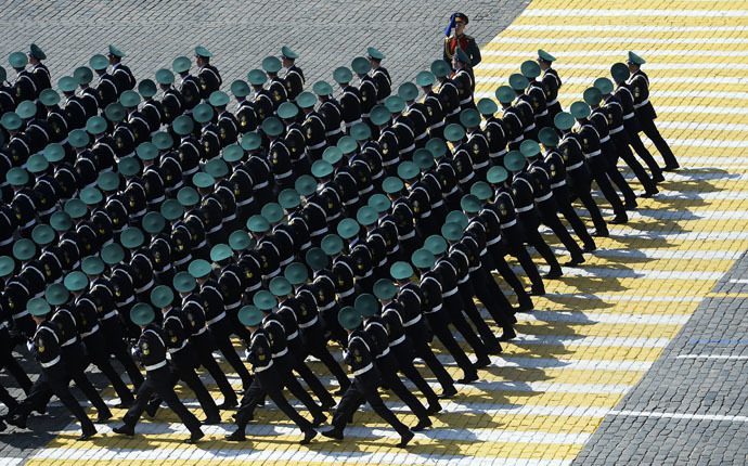 Ceremonial unit soldiers at the military parade to mark the 70th anniversary of Victory in the 1941-1945 Great Patriotic War. (RIA Novosti/Alexander Vilf)