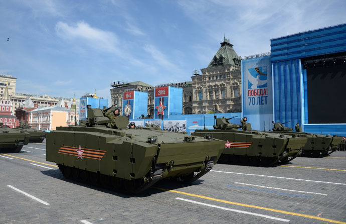Kurganets-25 armored personnel carrier with medium-category caterpillar chassis at the military parade to mark the 70th anniversary of Victory in the 1941-1945 Great Patriotic War. (RIA Novosti/Iliya Pitalev)