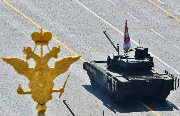 A T-14 tank with the Armata Universal Combat Platform at the military parade to mark the 70th anniversary of Victory in the 1941-1945 Great Patriotic War. (RIA Novosti/Maksim Blinov)