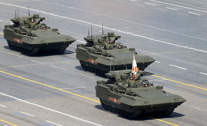 Infantry fighting vehicles with the Armata Universal Combat Platforms at the military parade to mark the 70th anniversary of Victory in the 1941-1945 Great Patriotic War. (RIA Novosti/Anton Denisov)