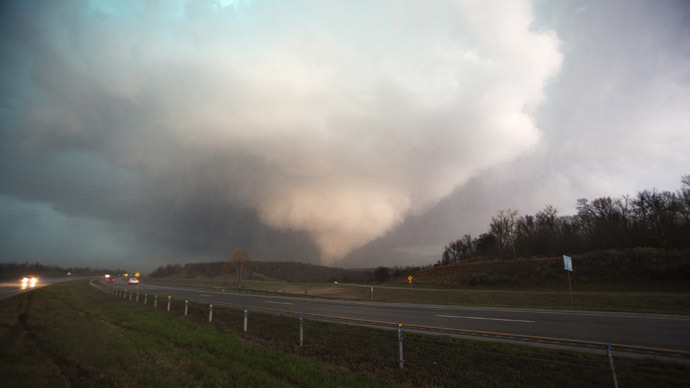Trail of destruction as tornadoes rip through Texas (IMAGES)