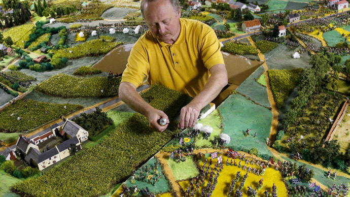 Finally meeting his Waterloo: Napoleonic wars buff finishes epic battle model after 40 years (PHOTOS)
