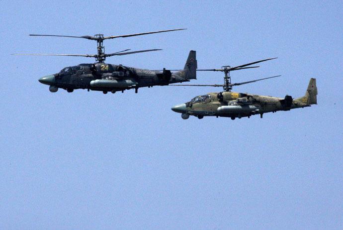 Ka-52 Alligator helicopters (RIA Novosti/Vitaliy Ankov)