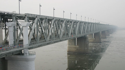 A railway bridge over River Amur in Khabarovsk. (RIA Novosti/Vyacheslav Reutov)