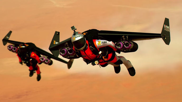 Jetpack power: Stunning 4K video of Jetmen soaring above Dubai at 120mph